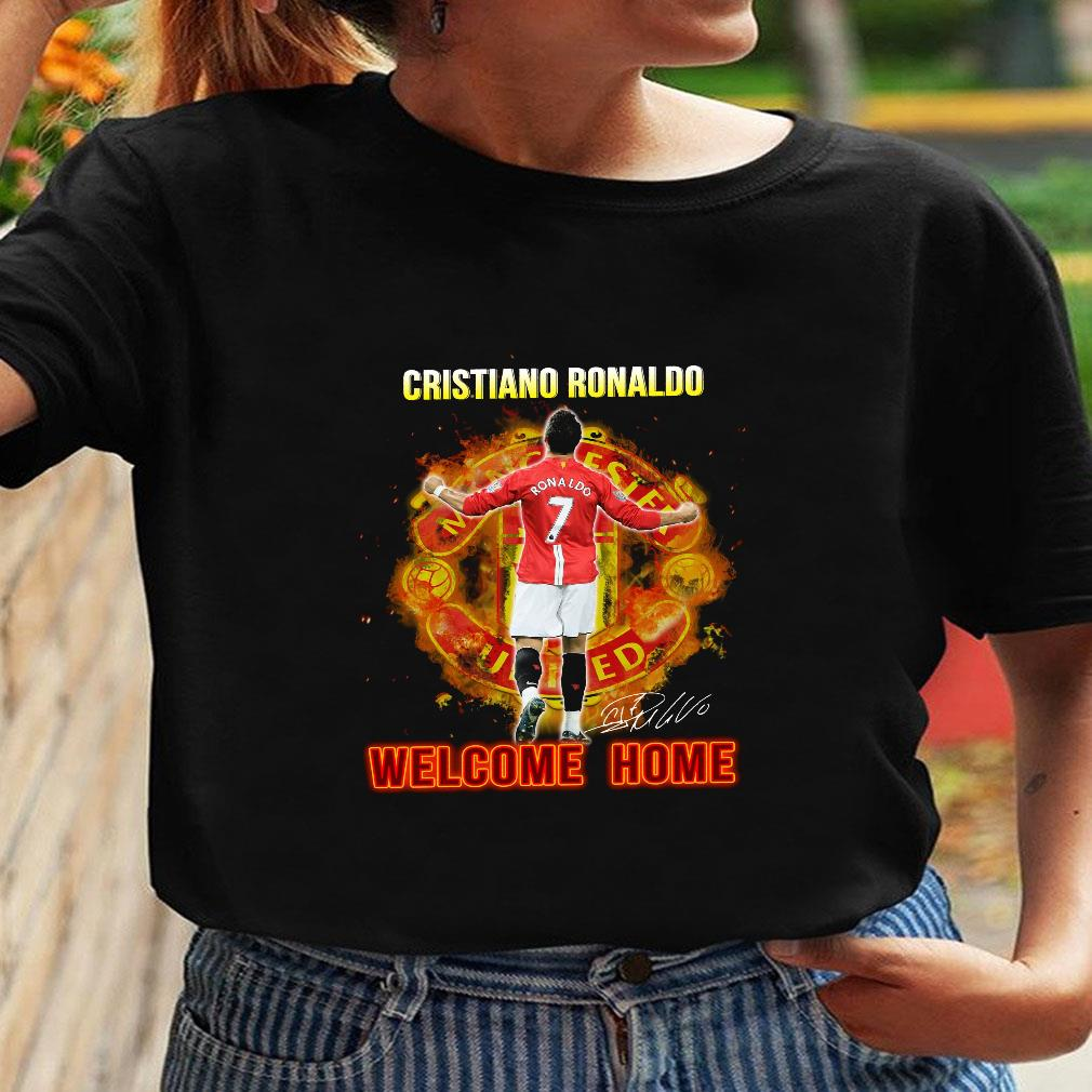 Cristiano ronaldo welcome home shirt ladies tee