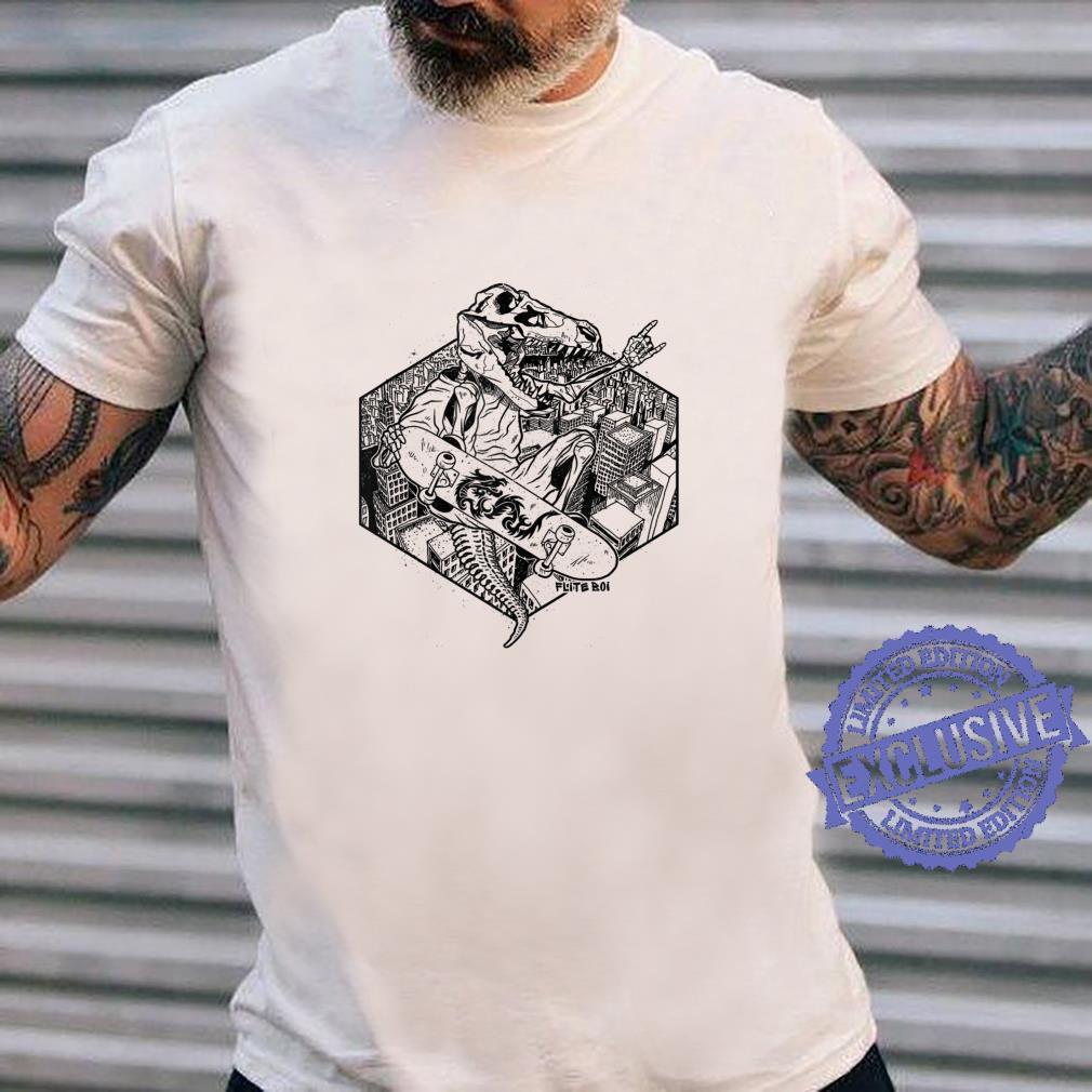 Flite Boi Skateboards TRex T. Rex Dinosaur Ink Shirt long sleeved