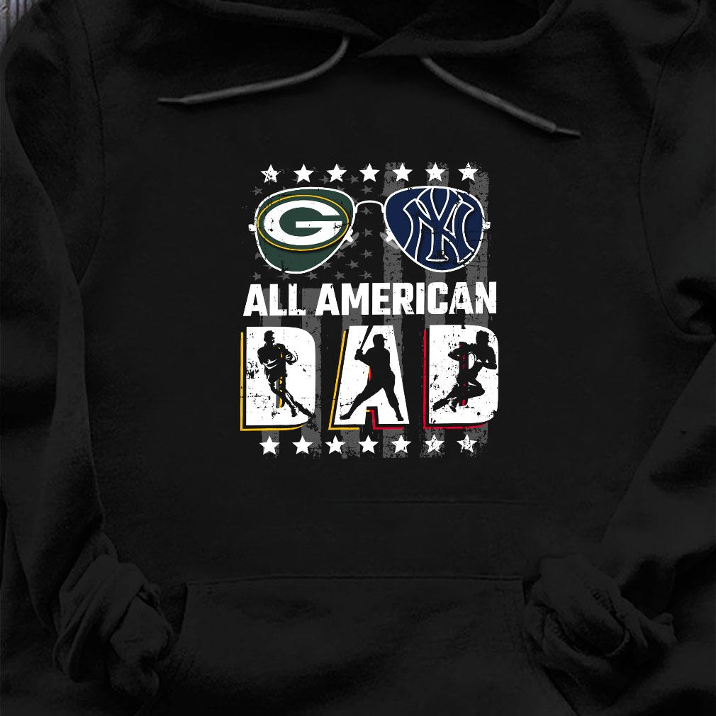 Green Bay Packers And New York Giants All american dad shirt hoodie