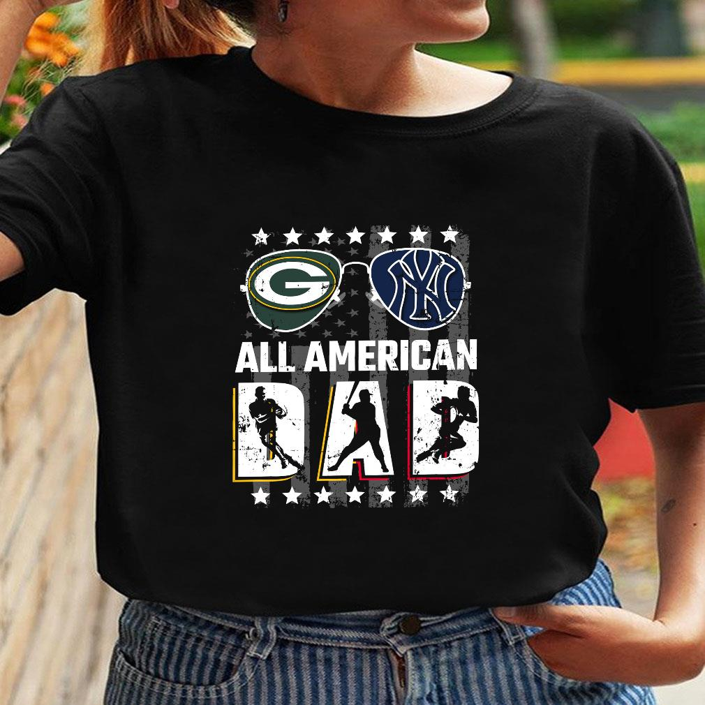 Green Bay Packers And New York Giants All american dad shirt ladies tee