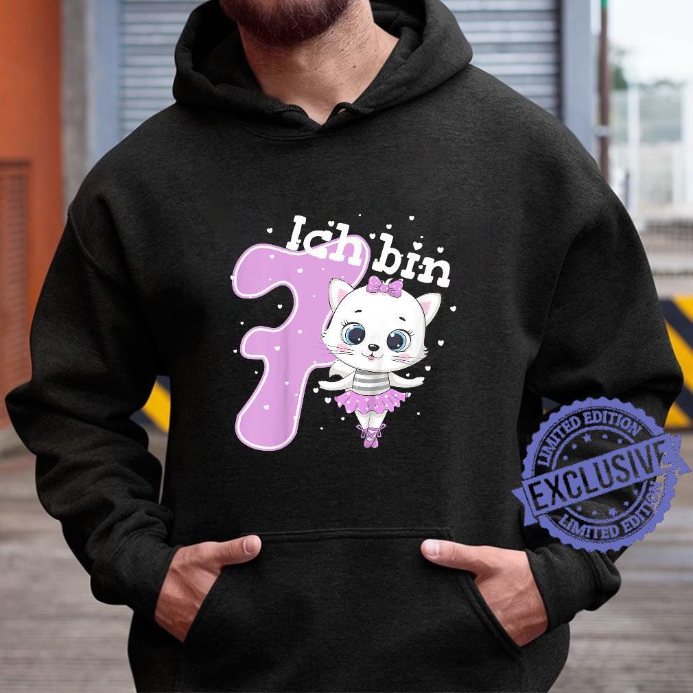 Kinder Kätzchen Geburtstagsshirt Katze 7 Geburtstag Mädchen 7 Jahre Shirt hoodie