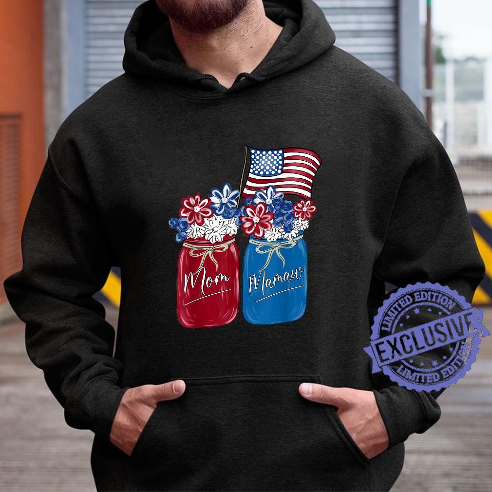 Mom Mamaw Patriotic Flower American Flag Shirt hoodie