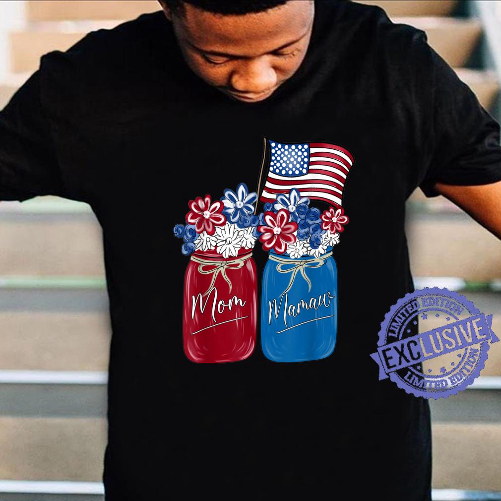 Mom Mamaw Patriotic Flower American Flag Shirt