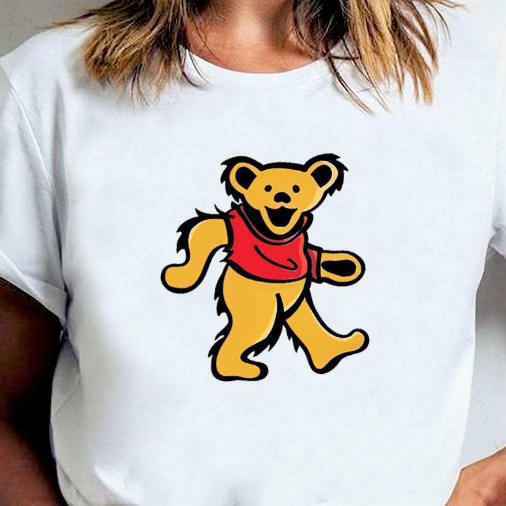 WINNIE-POOH DANCING BEAR shirt ladies tee
