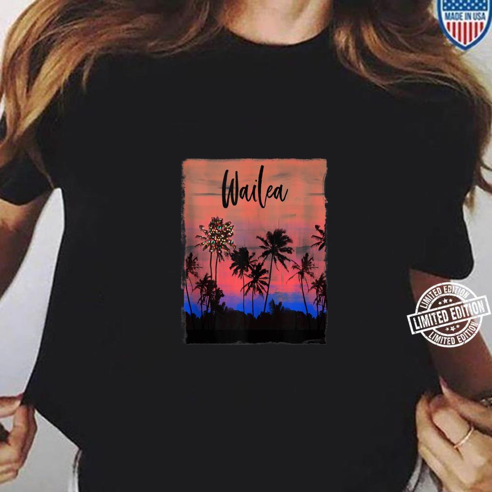 Wailea Maui Christmas Vacation Souvenir Shirt ladies tee