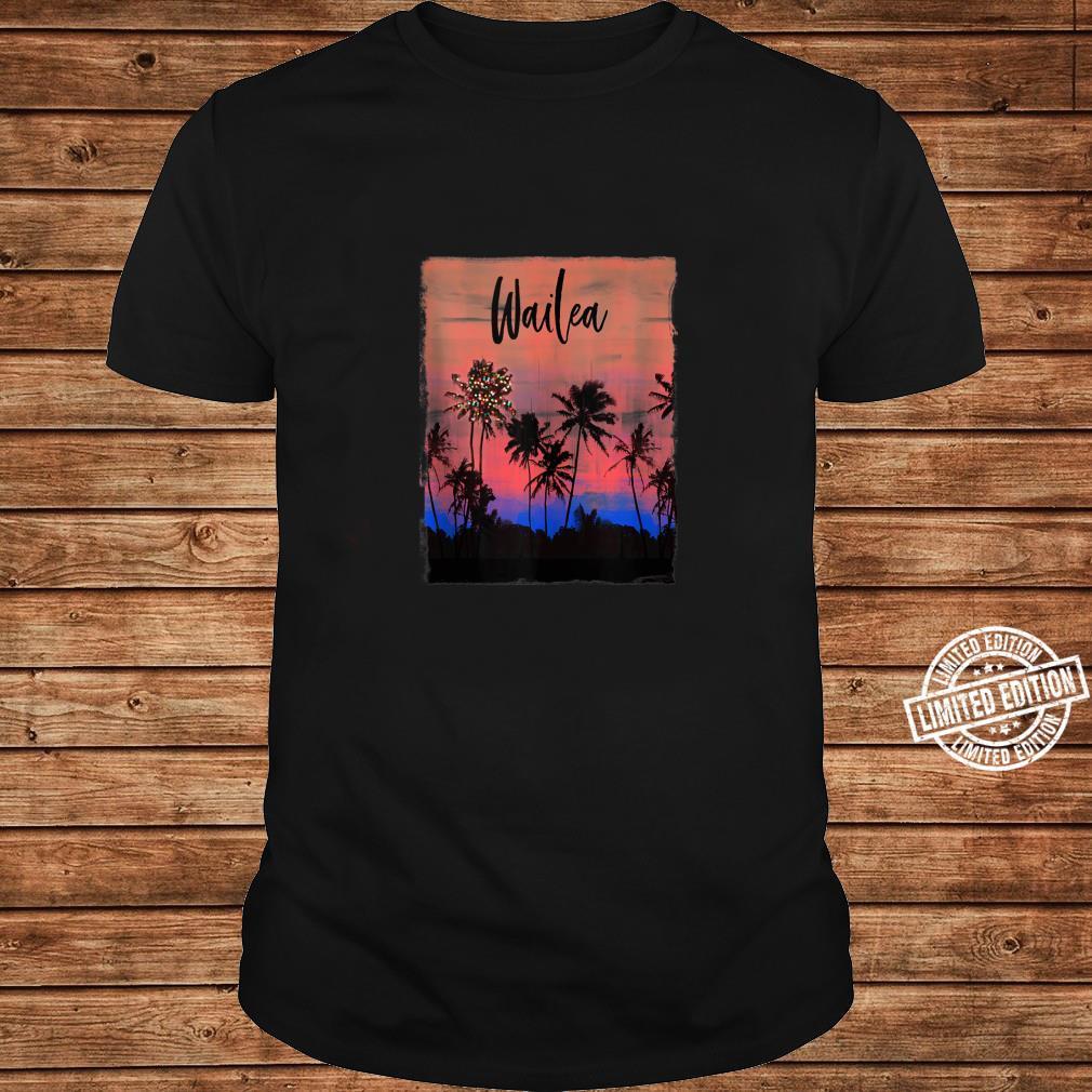 Wailea Maui Christmas Vacation Souvenir Shirt long sleeved