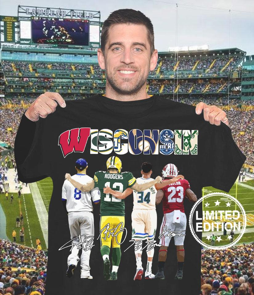 Wisconsin 8 rodgers 12 34 23 shirt