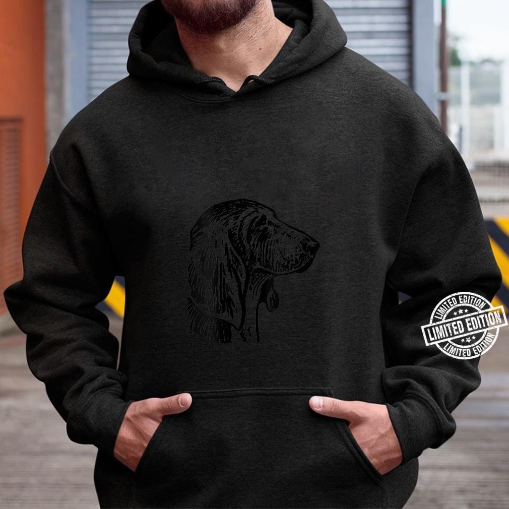 Womens Basset Hound Dog Head Shirt hoodie