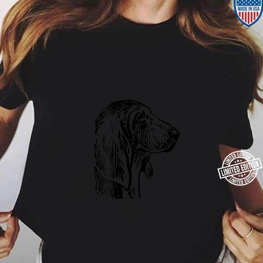 Womens Basset Hound Dog Head Shirt ladies tee