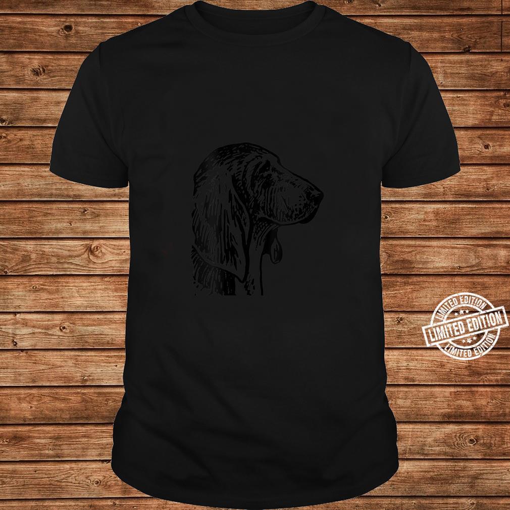 Womens Basset Hound Dog Head Shirt long sleeved
