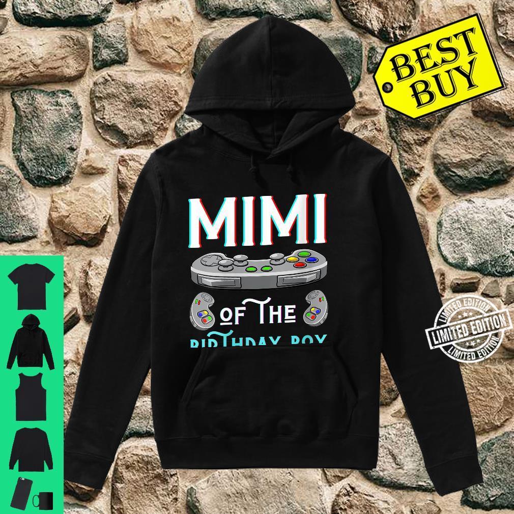 Womens Mimi Of The Birthday Boy Play Video Game Grandma Nana Shirt hoodie