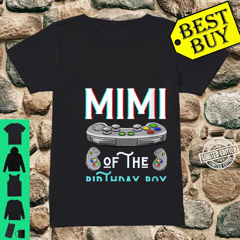 Womens Mimi Of The Birthday Boy Play Video Game Grandma Nana Shirt ladies tee