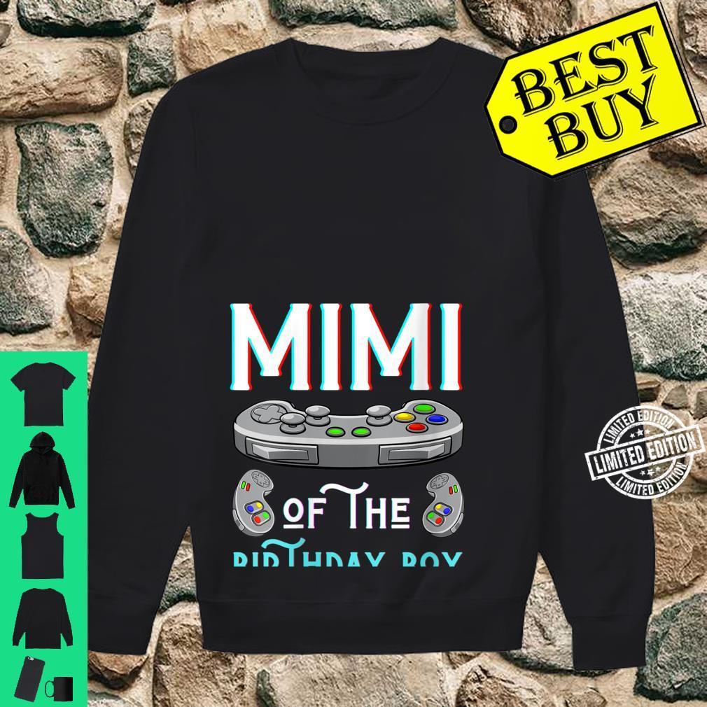 Womens Mimi Of The Birthday Boy Play Video Game Grandma Nana Shirt sweater