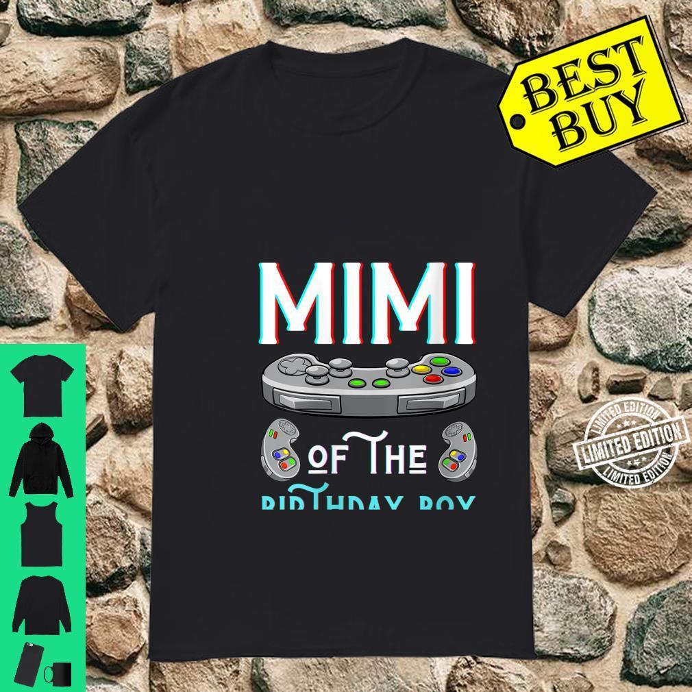 Womens Mimi Of The Birthday Boy Play Video Game Grandma Nana Shirt