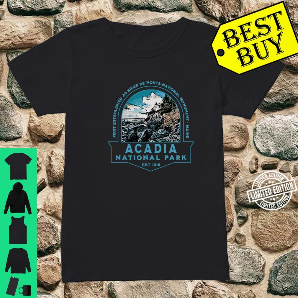Acadia National Park Maine Hiking Camping Lighthouse Shirt ladies tee