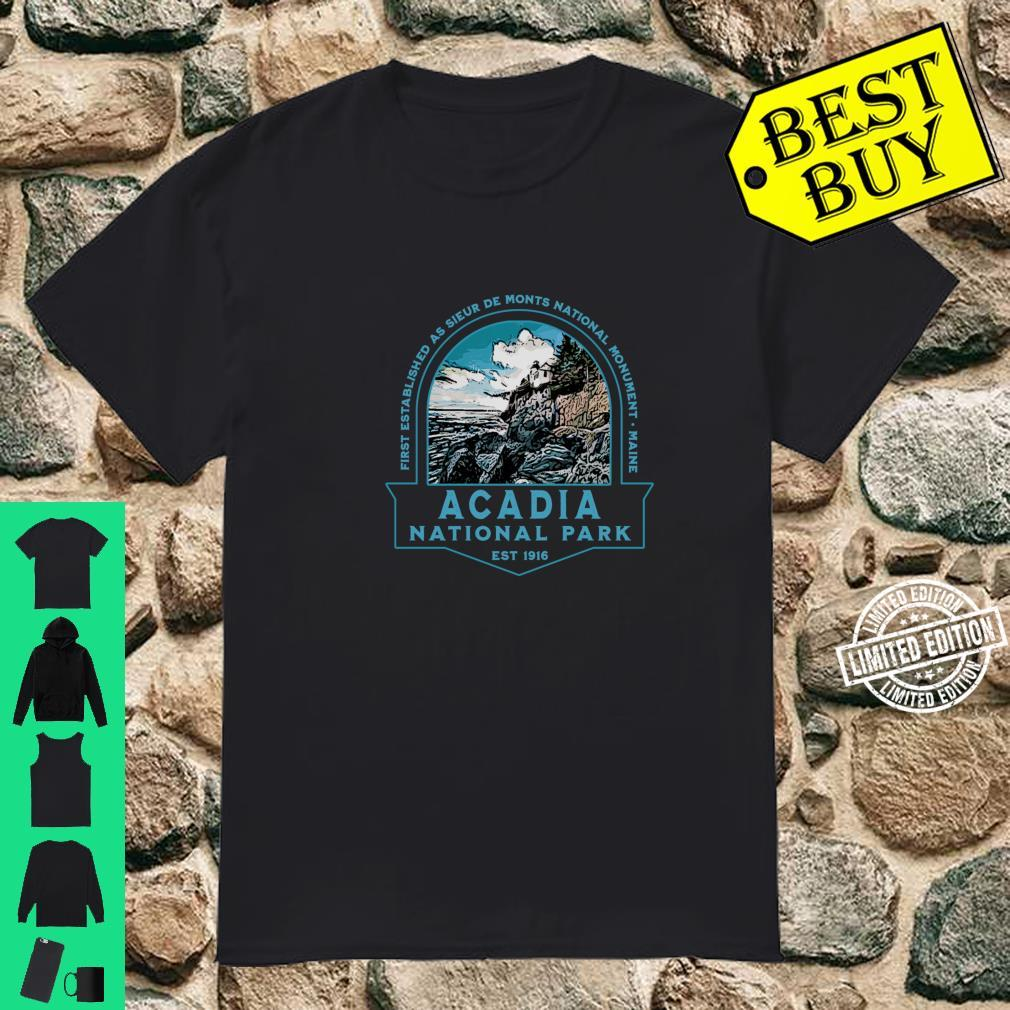 Acadia National Park Maine Hiking Camping Lighthouse Shirt
