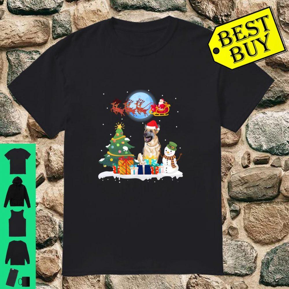 Cute German Shepherd Christmas Santa Dog shirt