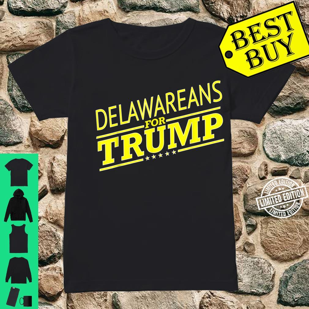 Delaware For Trump 2020 Second President Election Shirt ladies tee