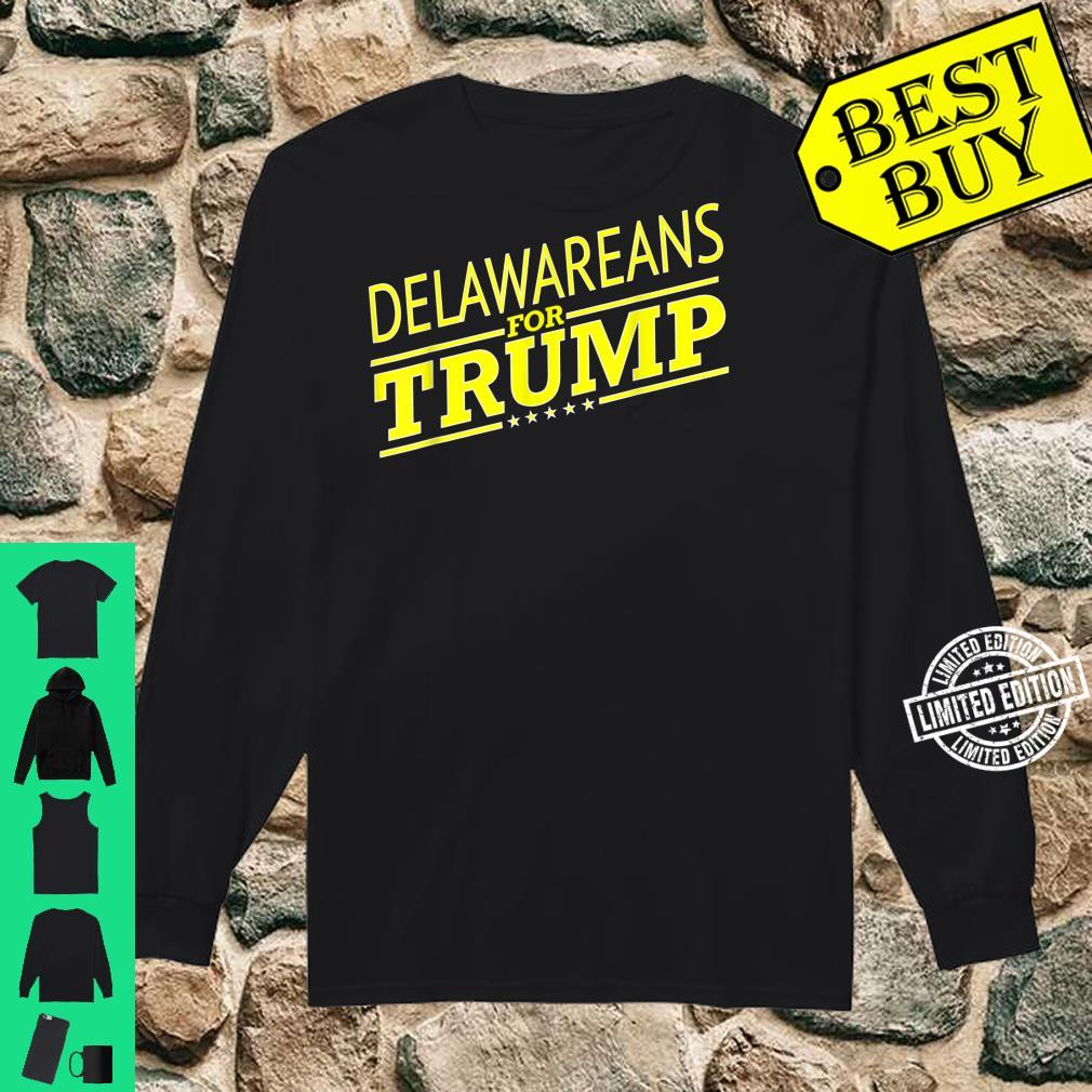 Delaware For Trump 2020 Second President Election Shirt long sleeved