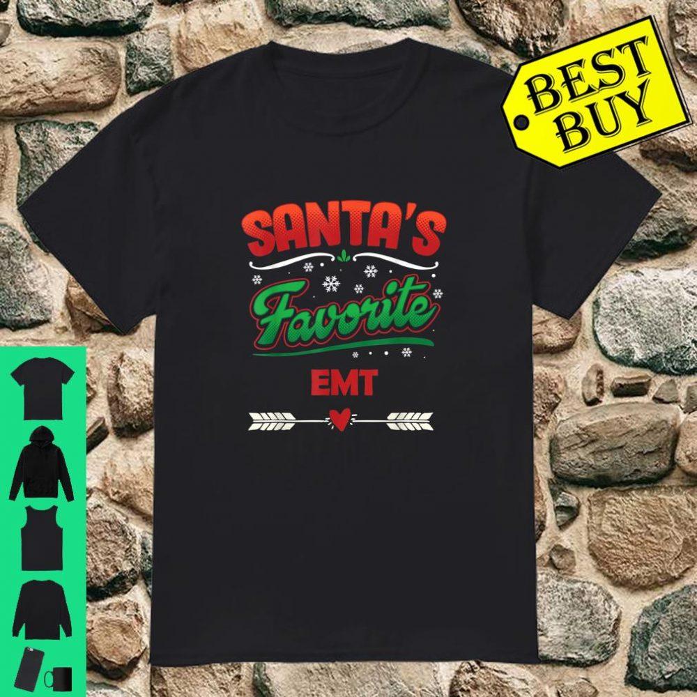 Festliches Emt Weihnachten Santa's Favorite EMT shirt
