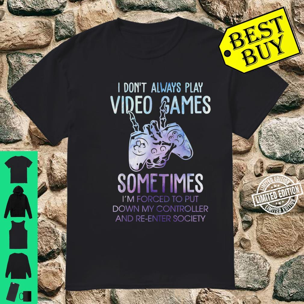 Gaming Gfit Gamer Forced To Put Controller Down Shirt