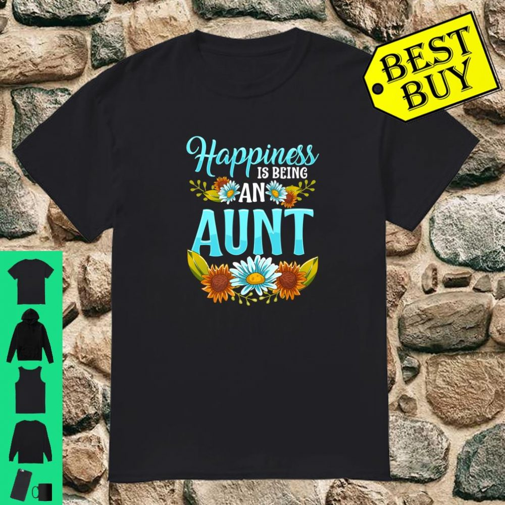 Happiness Is Being An Aunt Cute Floral Christmas shirt