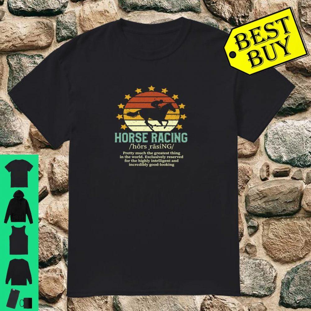 Horse Racing Fake Definition Equestrian Jockey Gift shirt