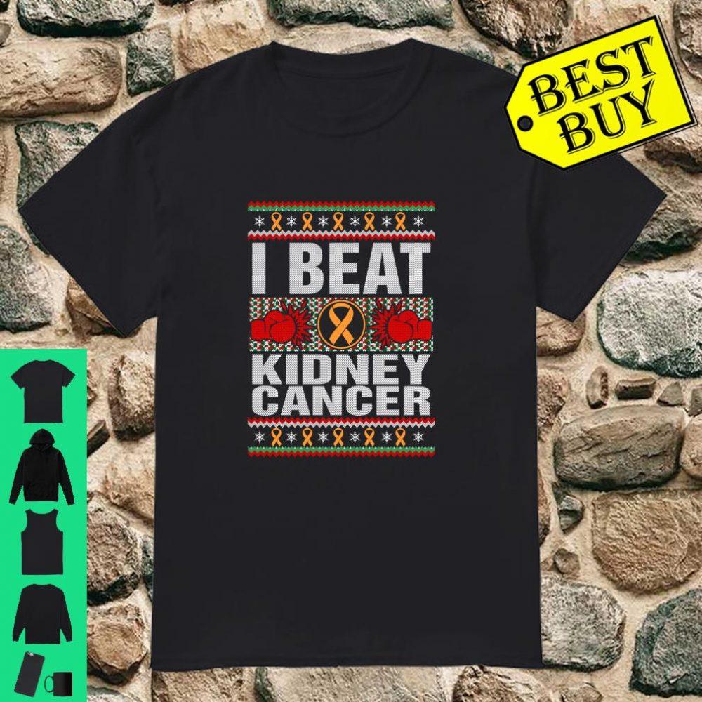 I Beat Kidney Cancer Awareness Christmas Ugly Sweater shirt