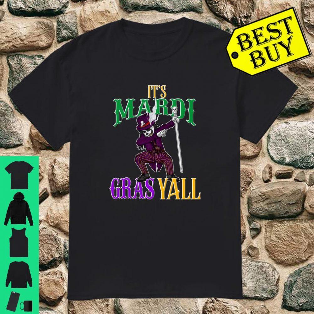 It's Mardi Gras Yall Dabbing Voodoo King Matching Family Shirt