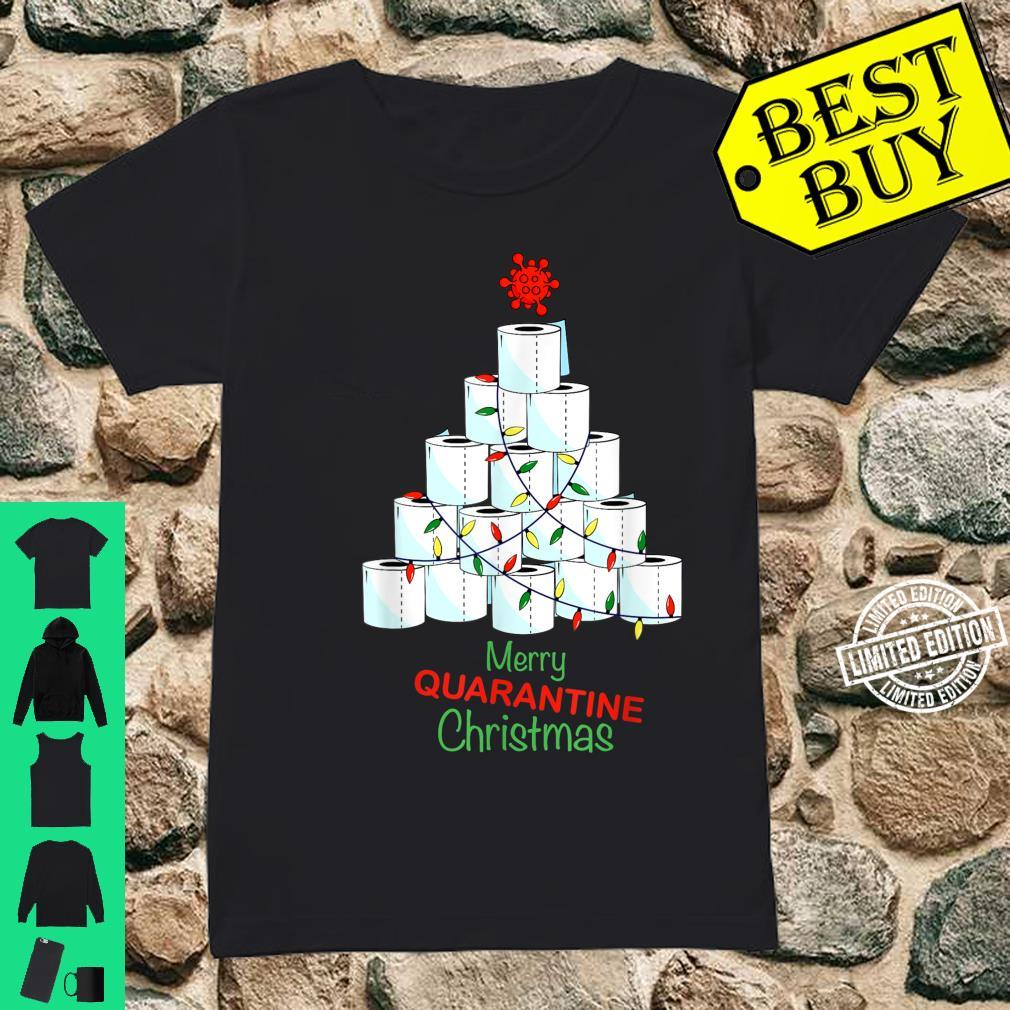 Merry Christmas Christmas Tree With Toilet Papers Shirt ladies tee