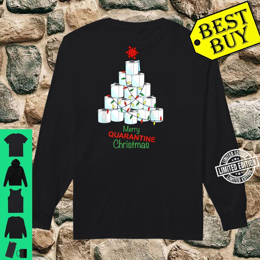 Merry Christmas Christmas Tree With Toilet Papers Shirt long sleeved