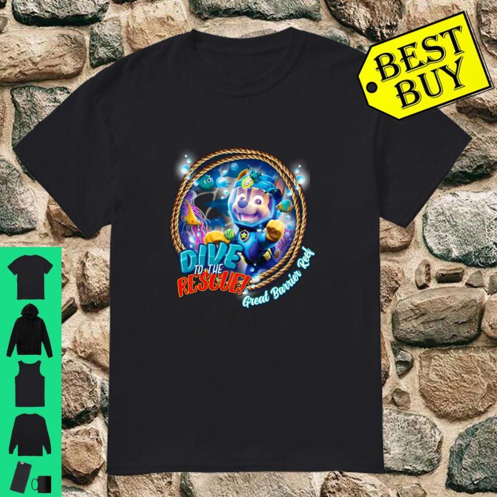Nickelodeon Paw Patrol Dive To The Rescue Great barrier Reel shirt