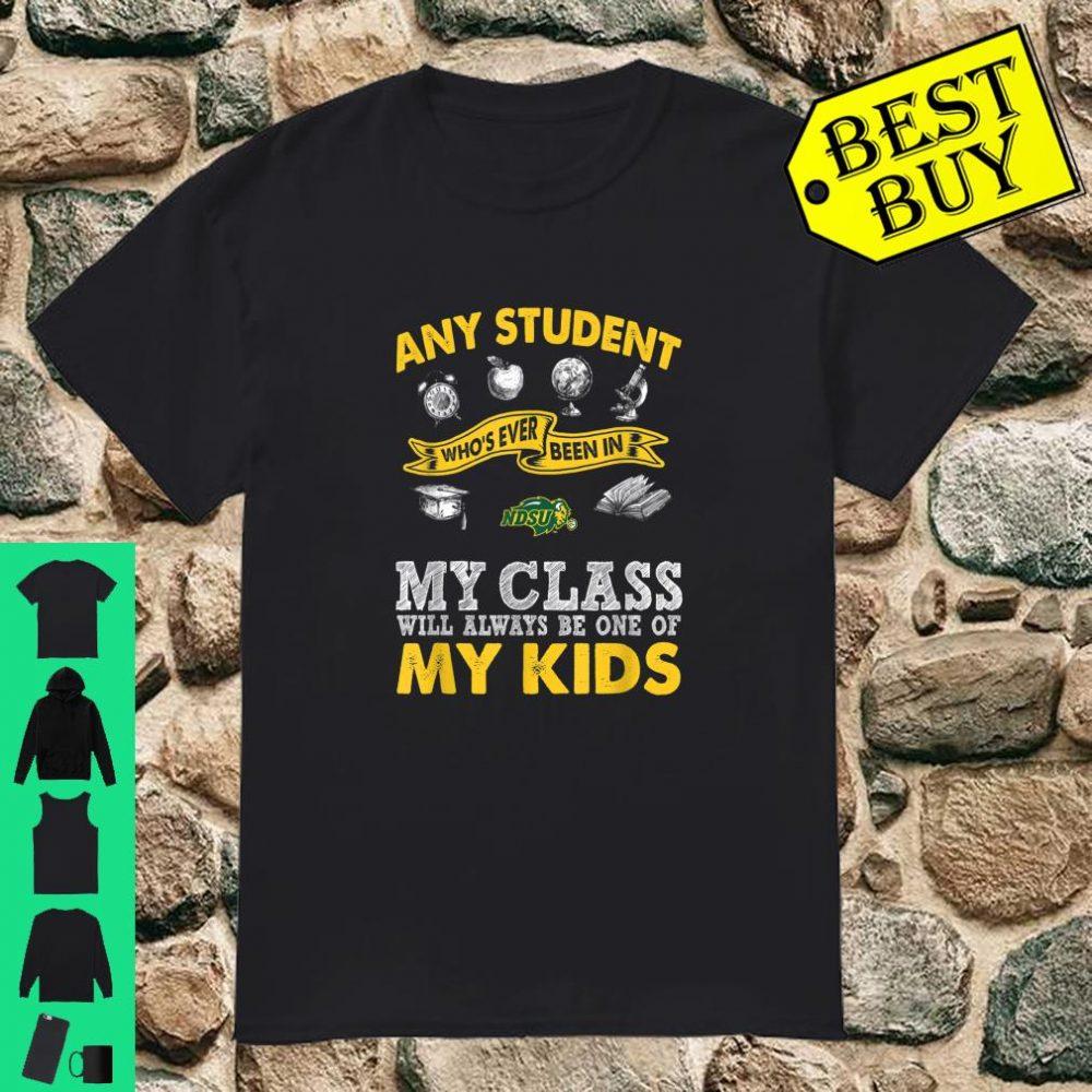 North Dakota State Bison Teacher One Of My Kids shirt