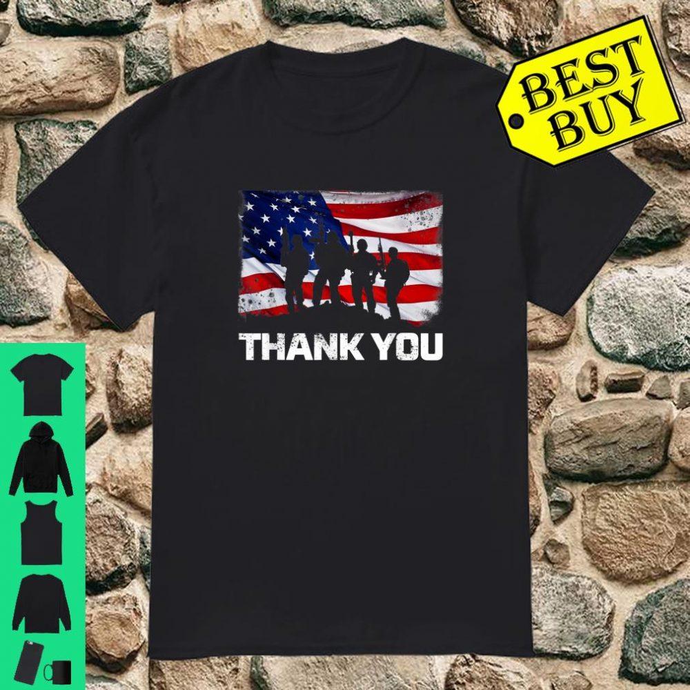 Patriotic Thank You American Flag shirt