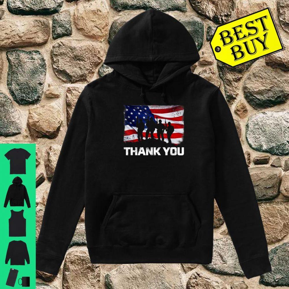 Patriotic Thank You American Flag shirt hoodie