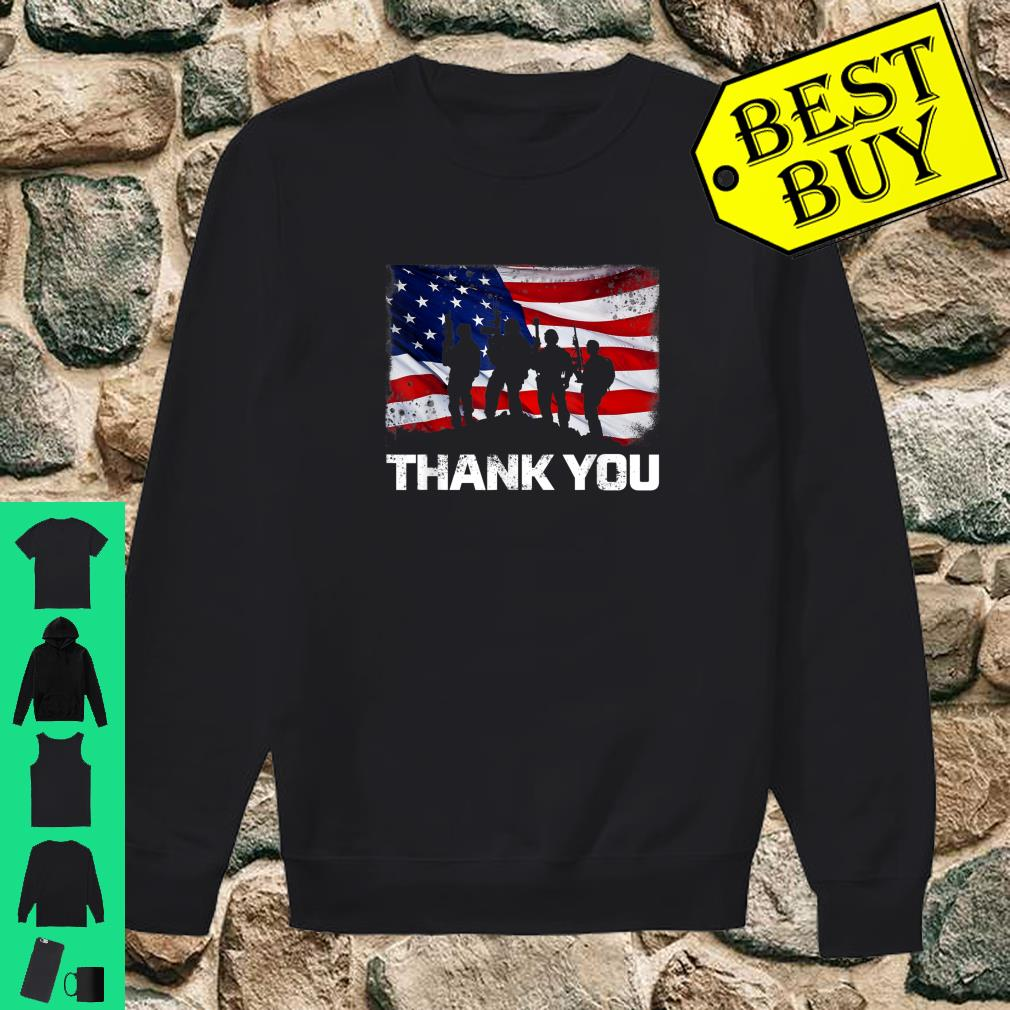 Patriotic Thank You American Flag shirt sweater