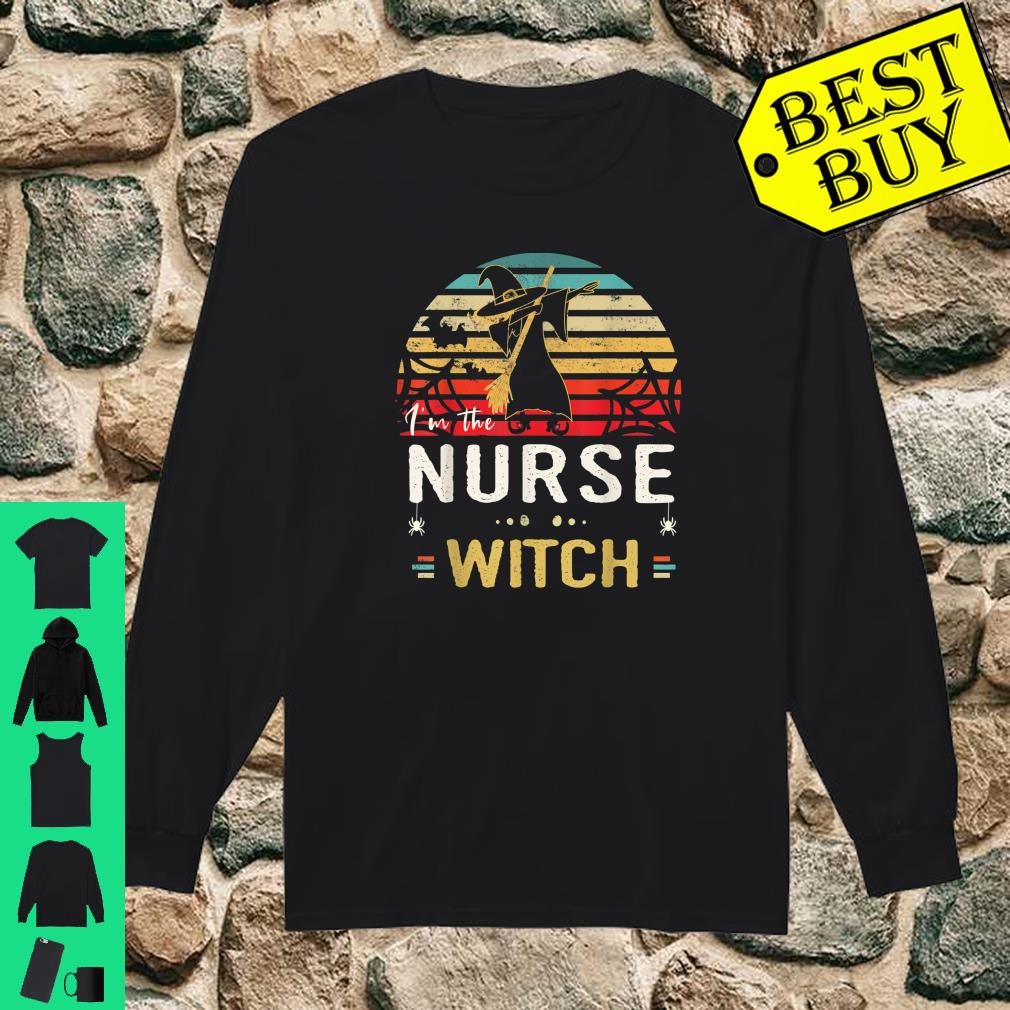Retro Vintage Dabbing Nurse Witch Halloween Shirt long sleeved