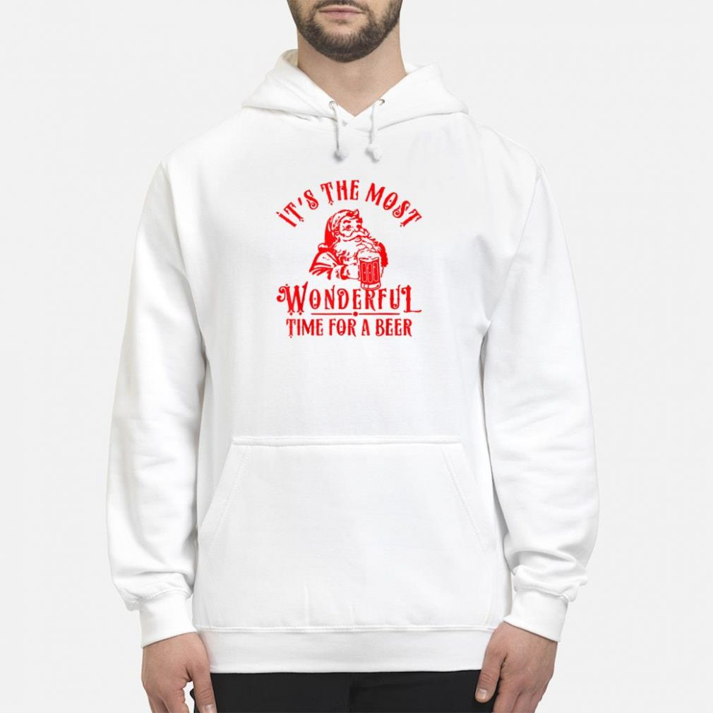 Santa Claus It's The Most Wonderful Time For A Beer shirt hoodie