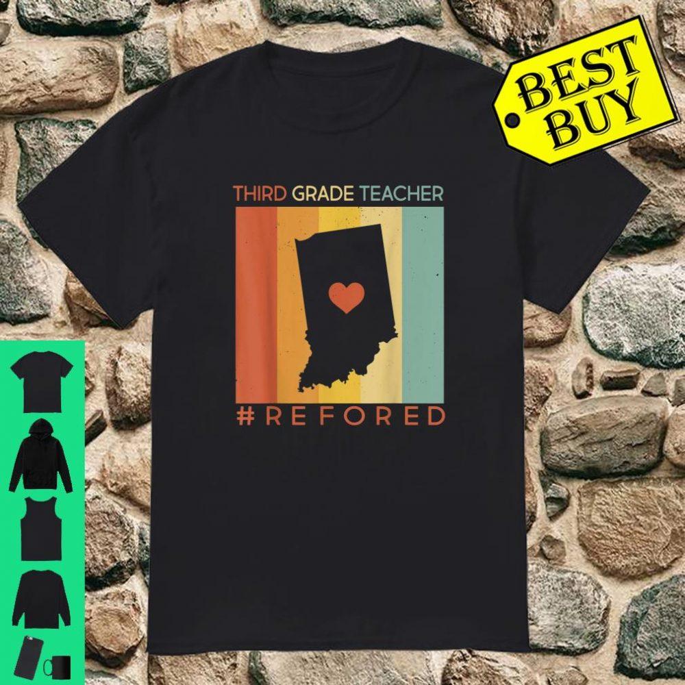 Vintage Indiana Third Grade Teacher Strike #REDforED shirt