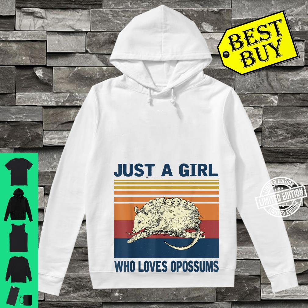 Vintage Just a Girl Who Loves Opossums Shirt hoodie