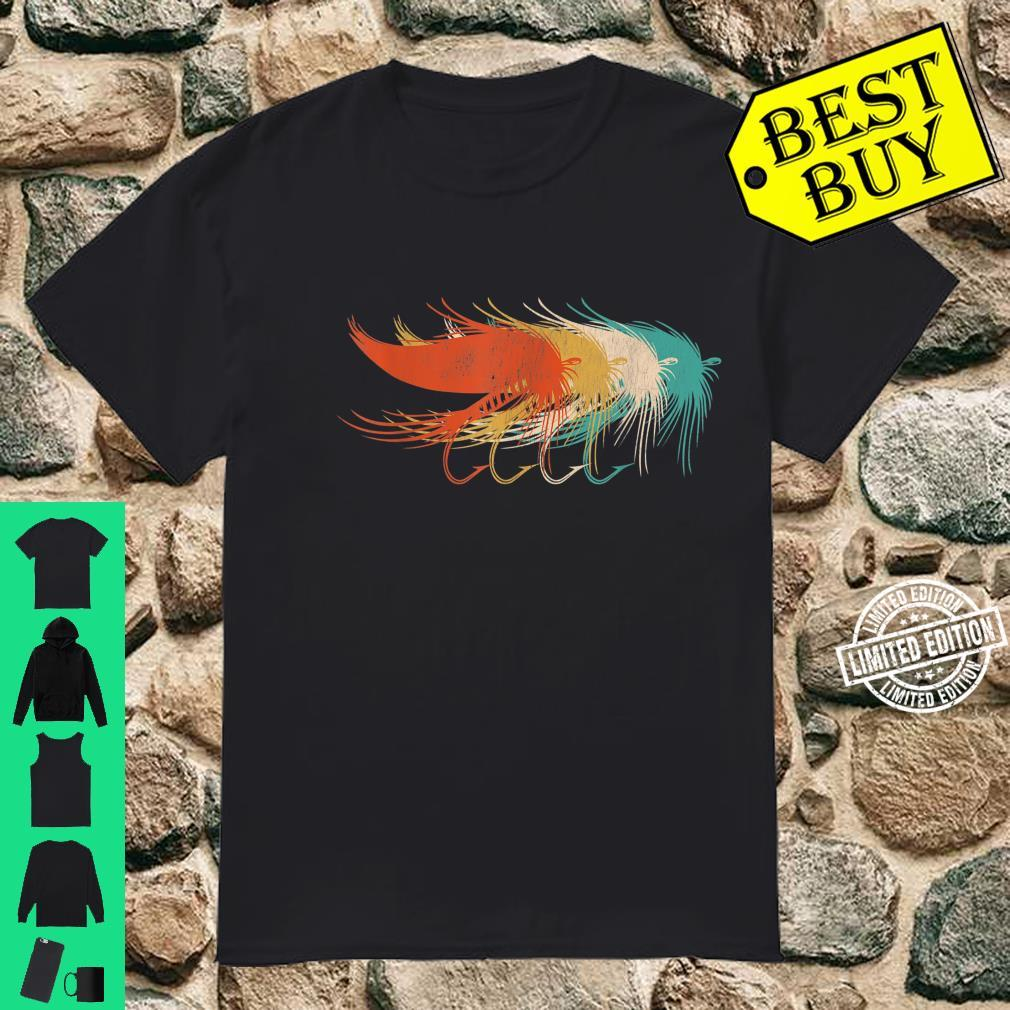 Vintage Retro Style Design Fly Fishing Shirt