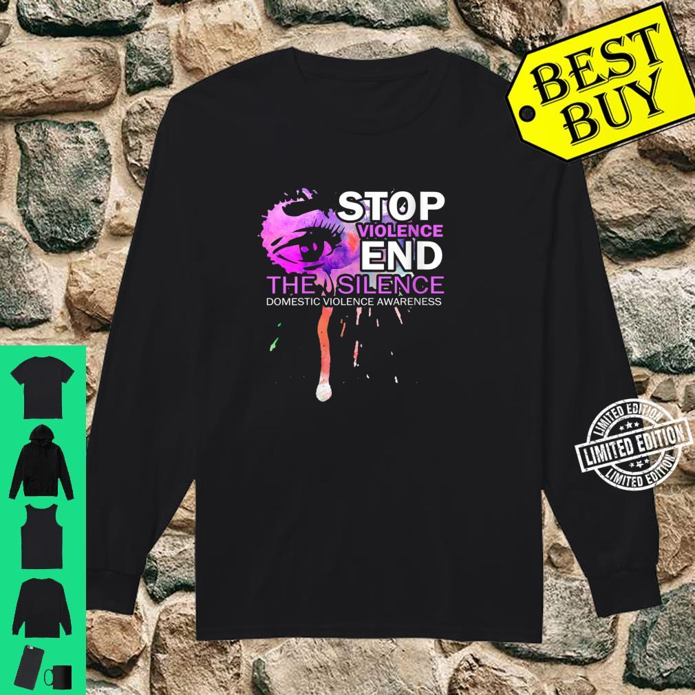 Womens Awareness For Domestic Violence Shirt long sleeved