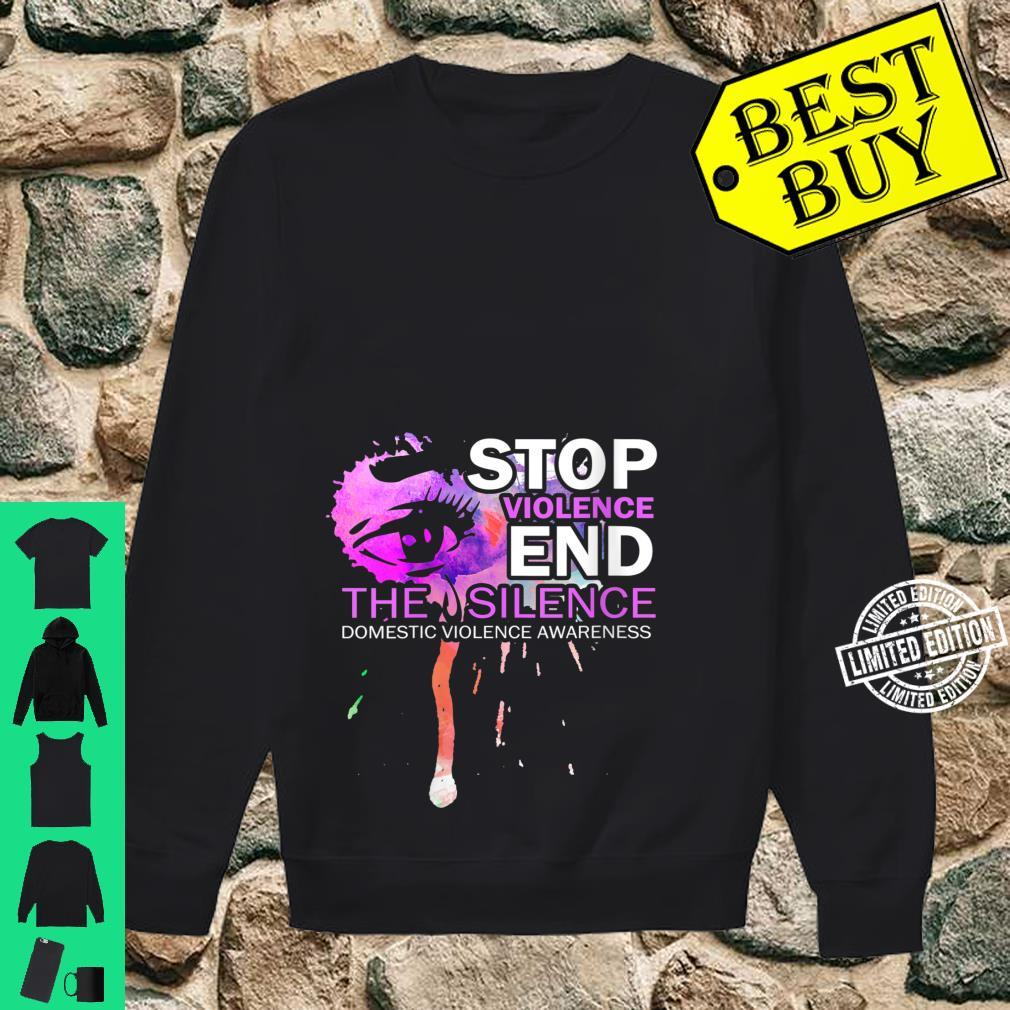 Womens Awareness For Domestic Violence Shirt sweater