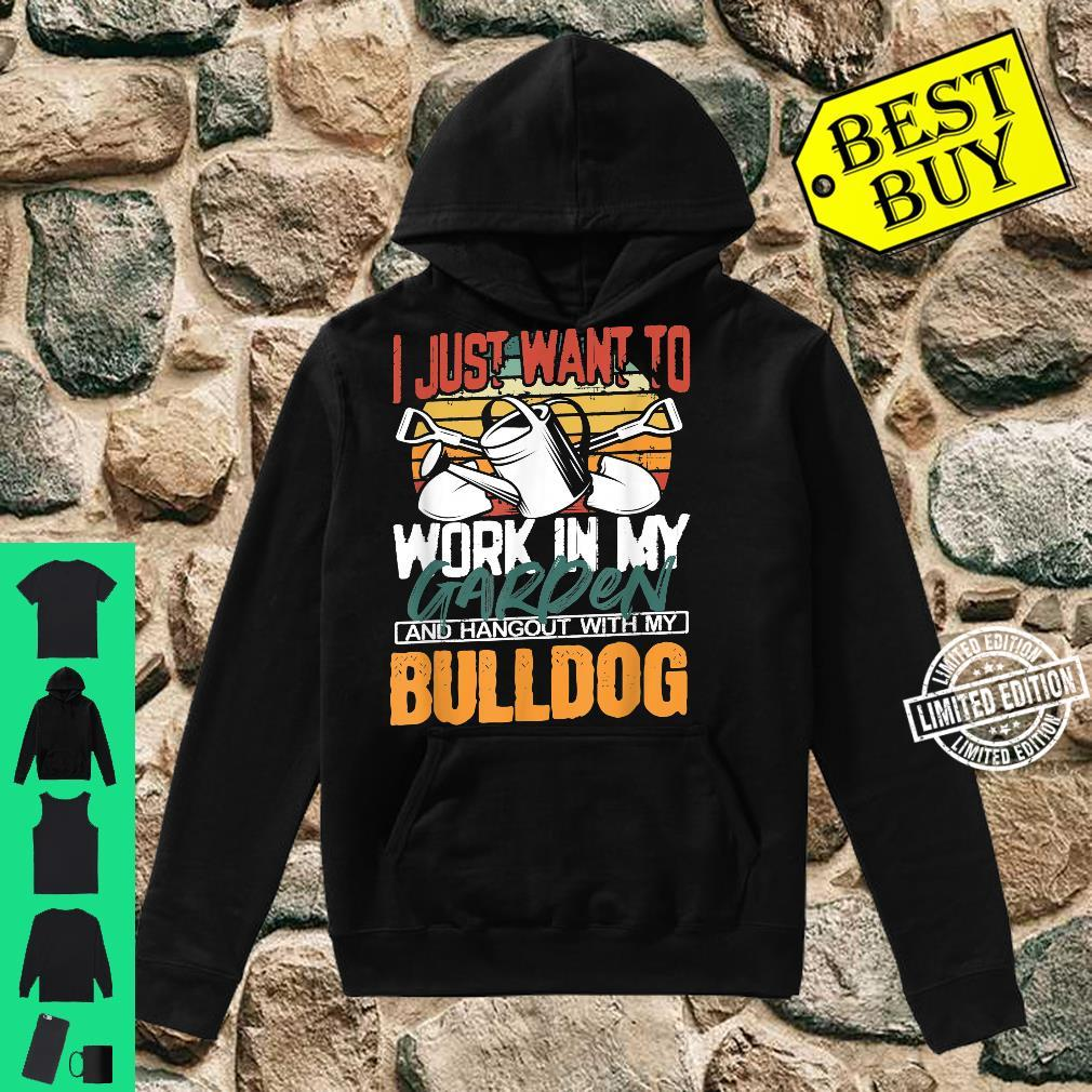 Work in my Garden and Hangout with my Bulldog Vintage Sunset Shirt hoodie