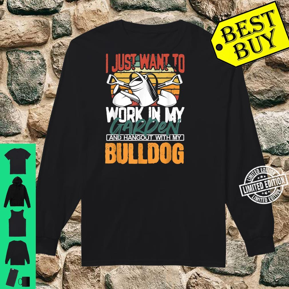 Work in my Garden and Hangout with my Bulldog Vintage Sunset Shirt long sleeved