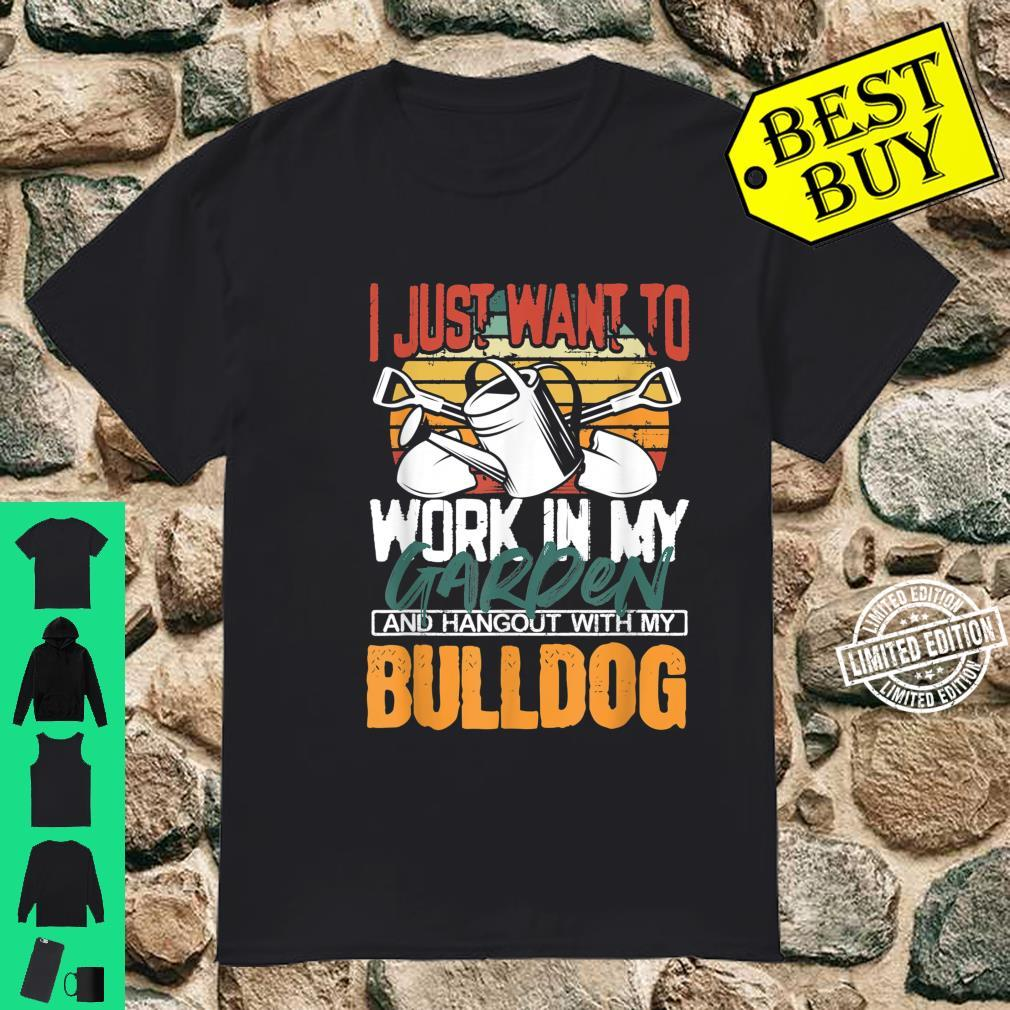 Work in my Garden and Hangout with my Bulldog Vintage Sunset Shirt